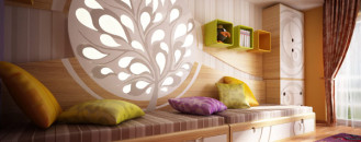 Original Children's Bedroom Design Showcasing Vibrant Colors and Textures