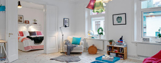 Bright and Cozy Swedish Apartment Displaying Charming Decors