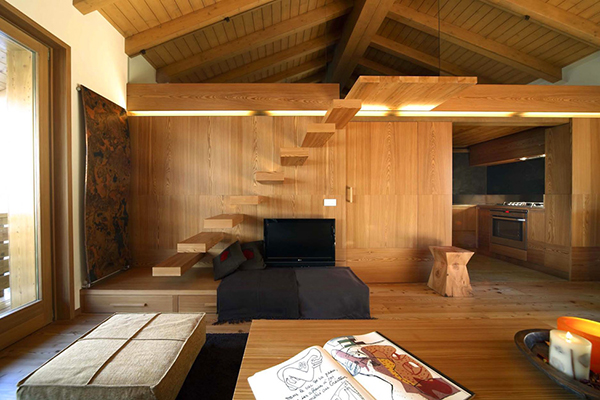 Wood Love: Atmosphere of Unity Recreated in an Enchanting Apartment in Italy