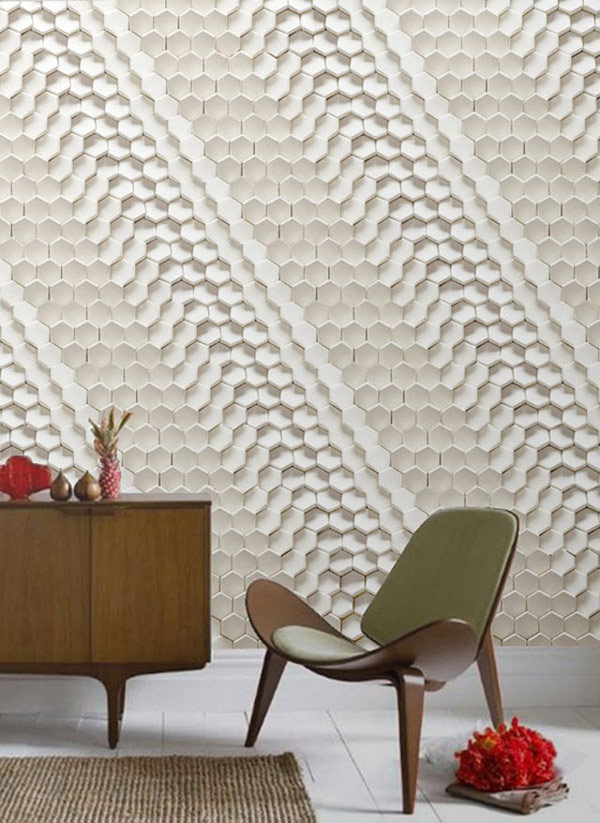 Highly original 3d surface designs for innovative - Texture in interior design ...