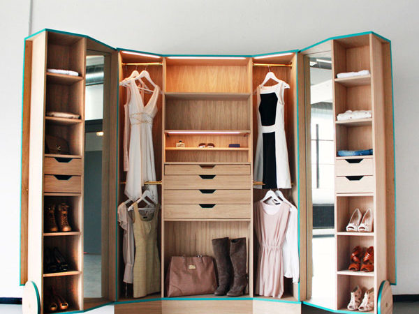 Cleverly-Designed Walk-in-Closet Showcasing Practicability and Style
