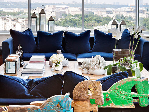 """Penthouse in Moscow With Panoramic View Over the """"Red City"""""""