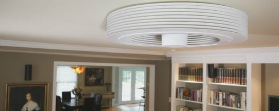 A Revolutionary Bladeless Ceiling Fan by Exhale Fans