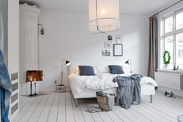 traditional scandinavian furniture painted scandinavian interior blue fire place in corner image via alvhem mkleri interir top 10 tips for creating freshomecom