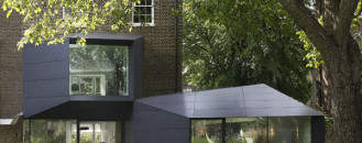 Victorian Villa Added an Origami-Like Extension: Lens House in London