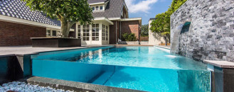 Visually Striking Aquatic Backyard in The Netherlands