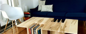 More Counter Space While Protecting Your Favorite Books: One-Two Table
