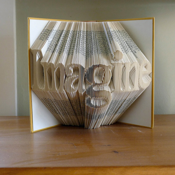 Complementing Fine Arts: Folded Book Sculptures By Luciana