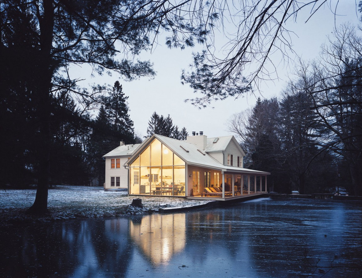 The Shabby Chic Farmhouse That Floats on The Water