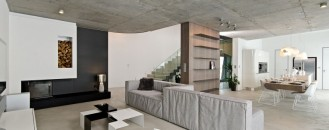 Sophisticated Concrete Interiors in the Czech Republic by oooox
