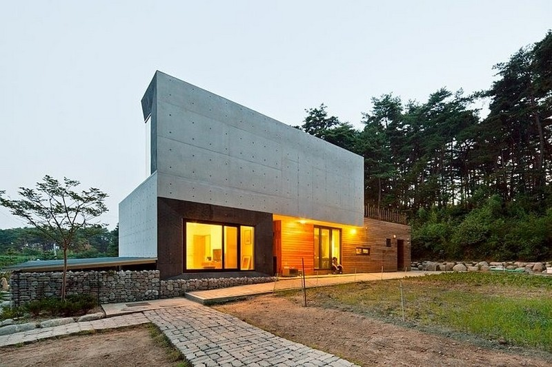 Modern Countryside Residence In South Korea Living Knot Freshome Com