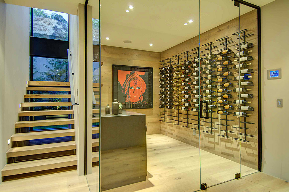 Transparent Wine Cellar
