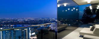 Striking Hollywood Hills Bachelor Pad With Living Room Car Park