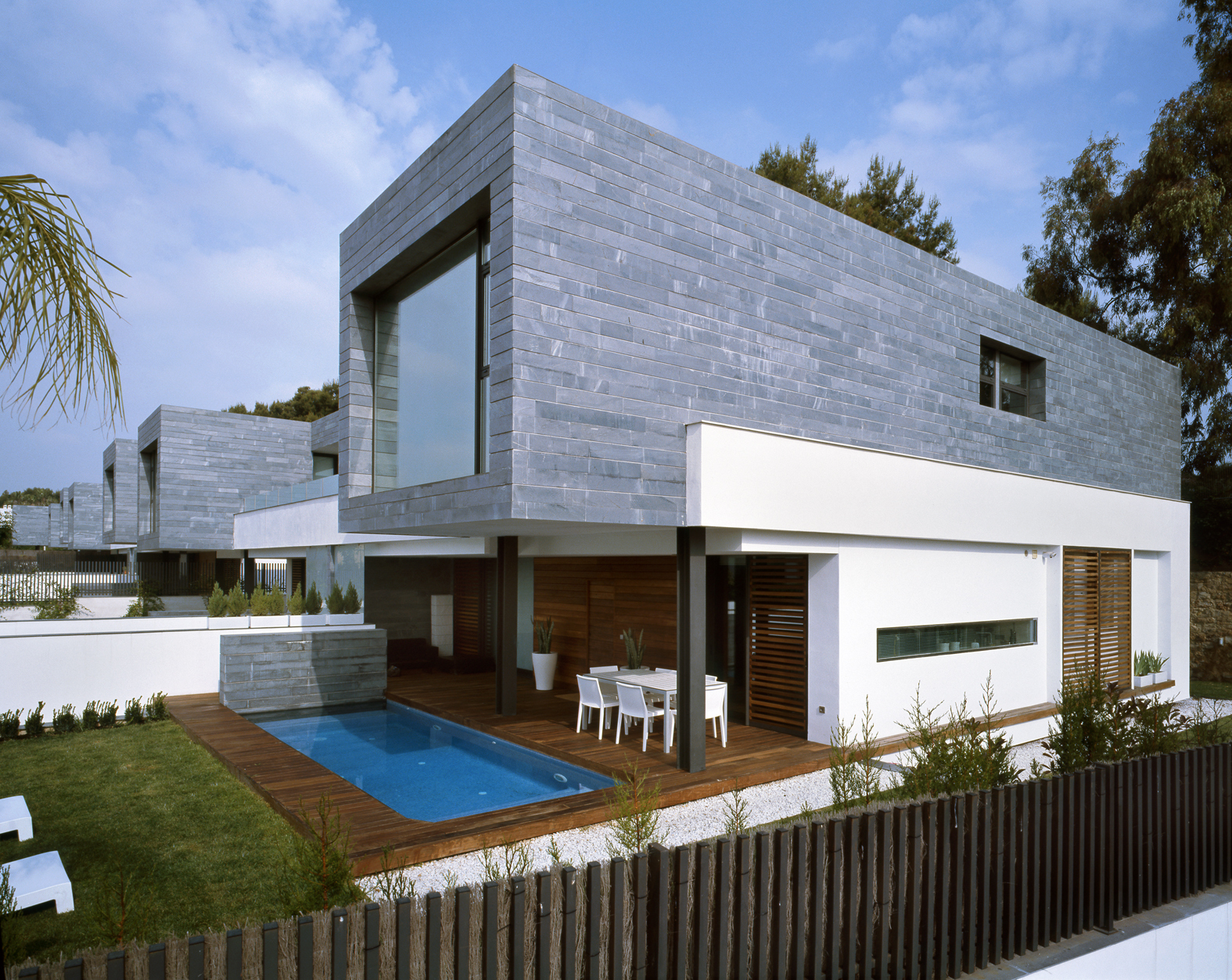 6 semi detached homes united by matching contemporary architecture freshome com