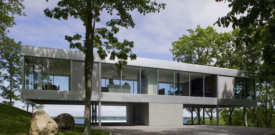 Glass House Overlooking The Peconic Bay: Clearhouse By Stuart Parr Design