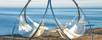 Relaxation Sold With Noble Purposes: Creatively-Designed Triple Hammocks