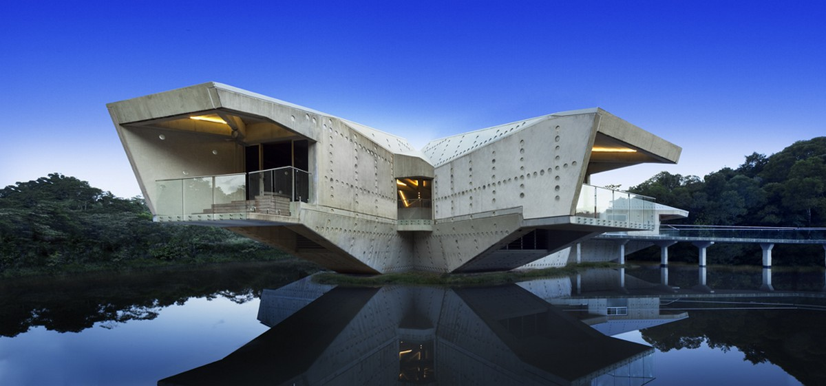sci fi looking residence with bridge access in australia stamp rh freshome com