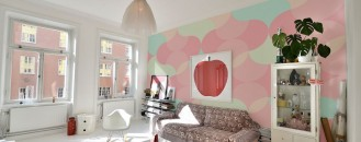 Bring the Essence of Summer Indoors: Wall Murals in Pastel Colors by PIXERS