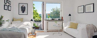 Charming 26 Sqm Apartment in Sweden Offering the Best of Two Eras