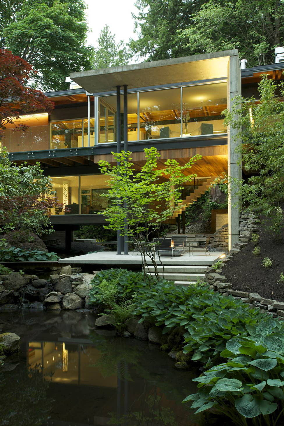 The Perfect Balanced Home: Southlands Residence Surrounded by Lush Vegetation in Vancouver