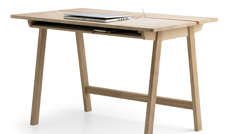 Minimalist Solid Oak Desk With Plenty Of Storage Space By Samuel Accoceberry