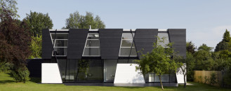 Daring Geometry: Black And White House in Kent Sliced Up Into Irregular Shapes