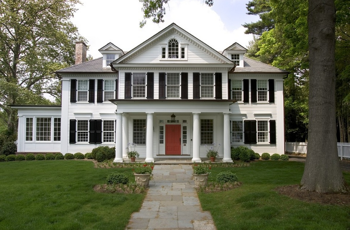 american iconic colonial design style