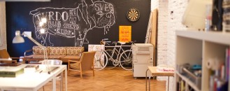Old Flat Converted Into Highly Creative Office Space in Bratislava