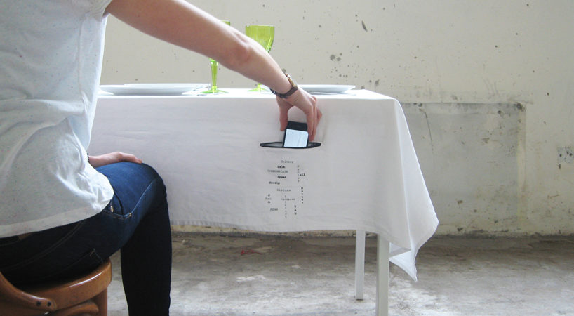Celebrating Dining Without Mobile Phone Distractions: Zip It Tablecloth