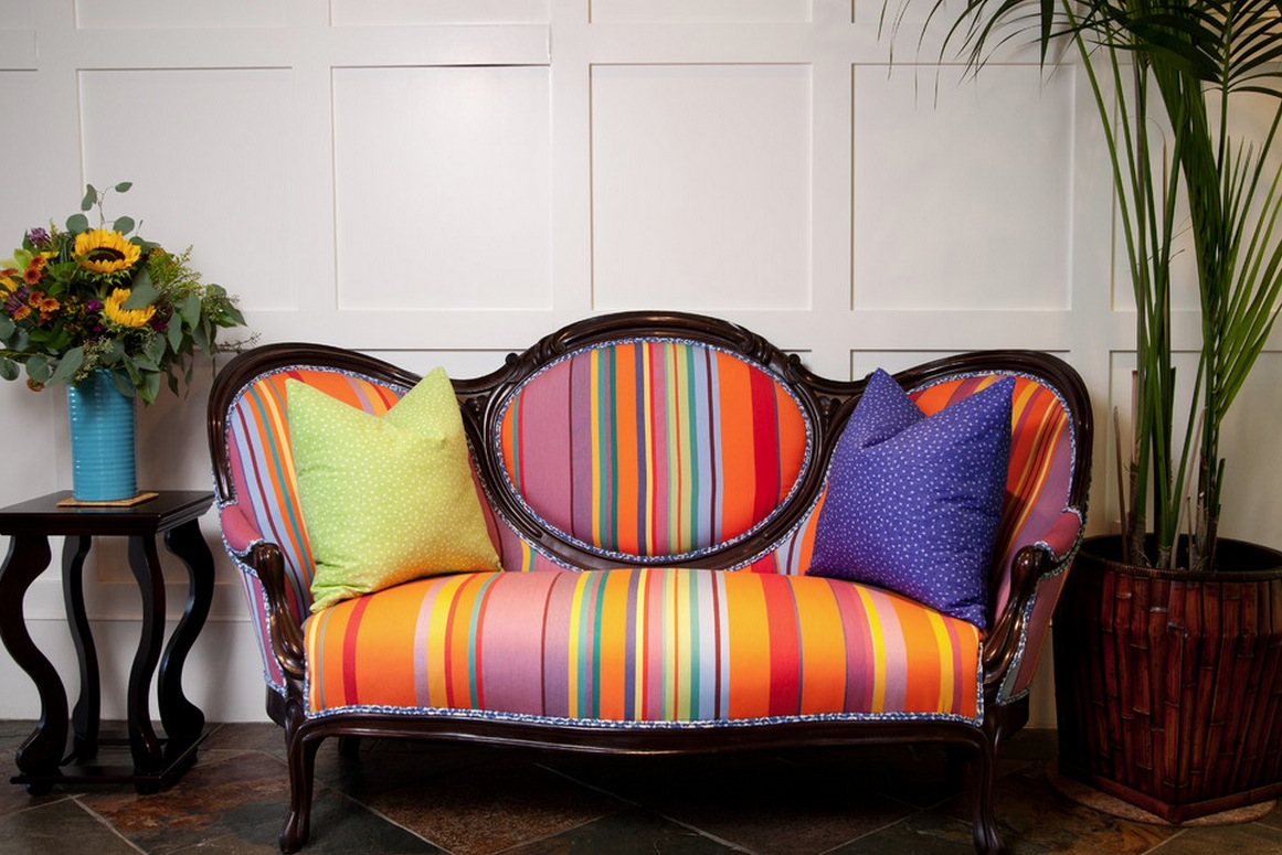 downsize colorful couch