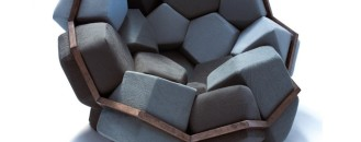Playful Pentagons and Hexagons: The Modular Quartz Armchair