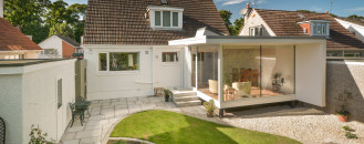 Contemporary Garden Room Built on a Strict Budget by Capital A Architecture
