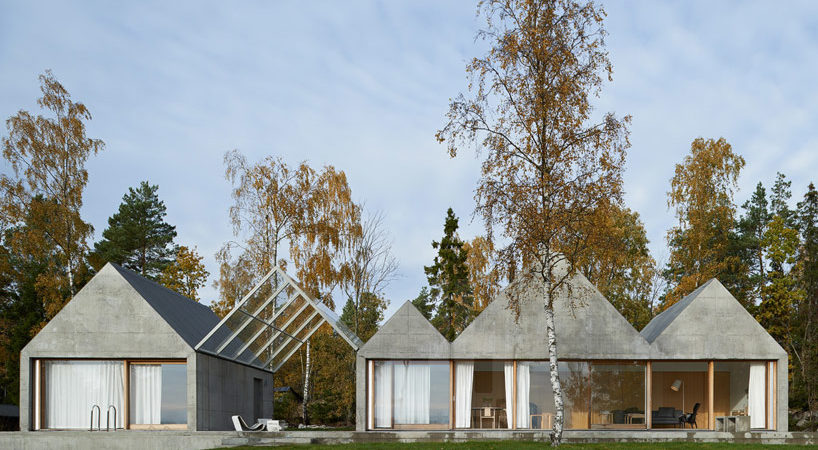 Concrete Summer House in Sweden Boasting a Zig-Zagging Profile