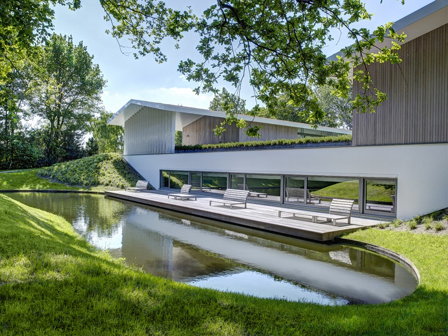 original architecture integrated in a perfect rural setting in the