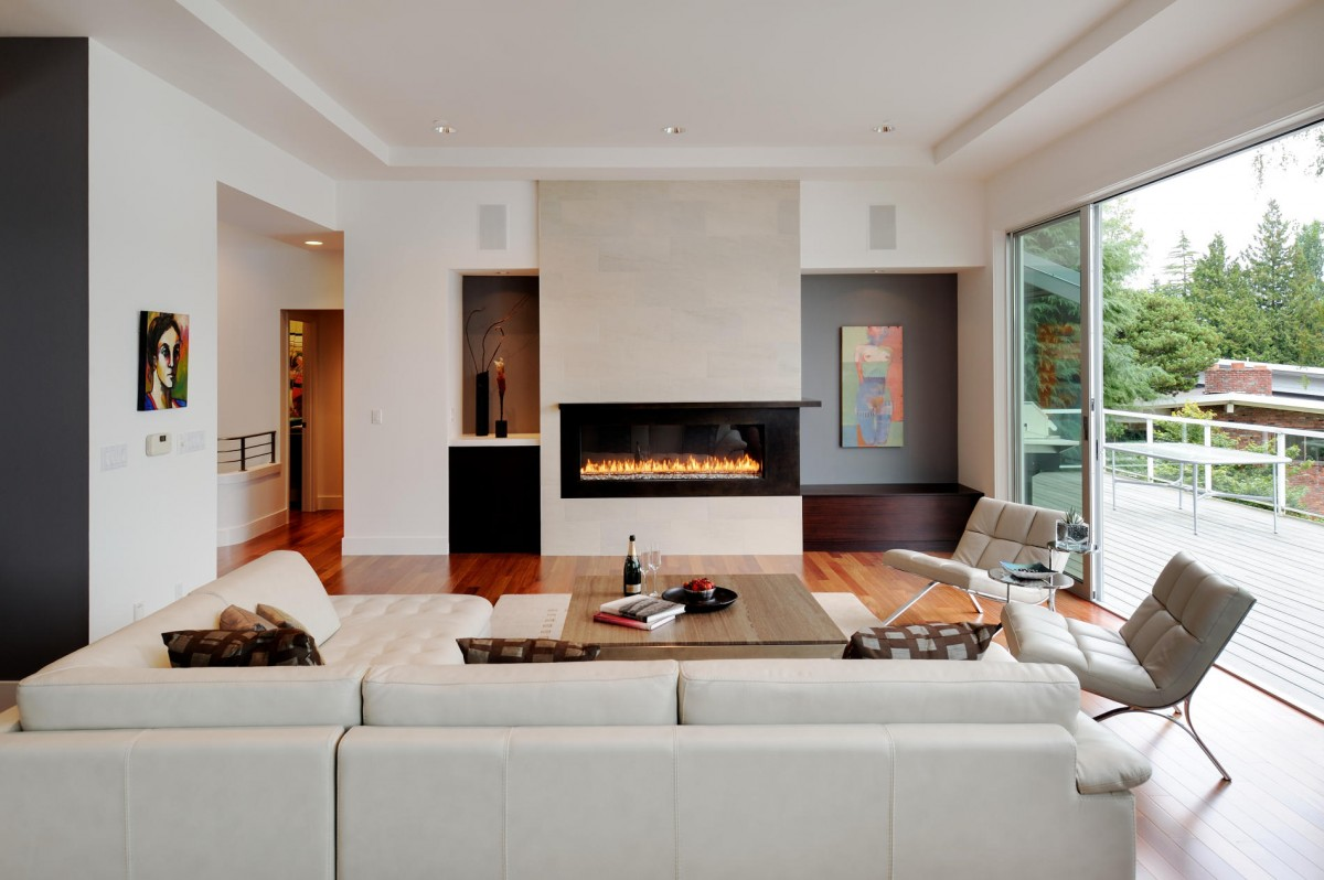 Collect this idea contemporary living room extension designs white sofa modern fireplace