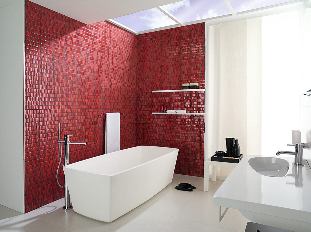 decorating with white accent wall color bathroom