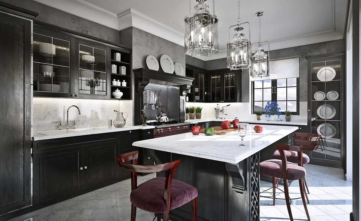 Why You Must Absolutely Paint Your Walls Gray Freshomecom - Grey-modern-kitchen-design-painting