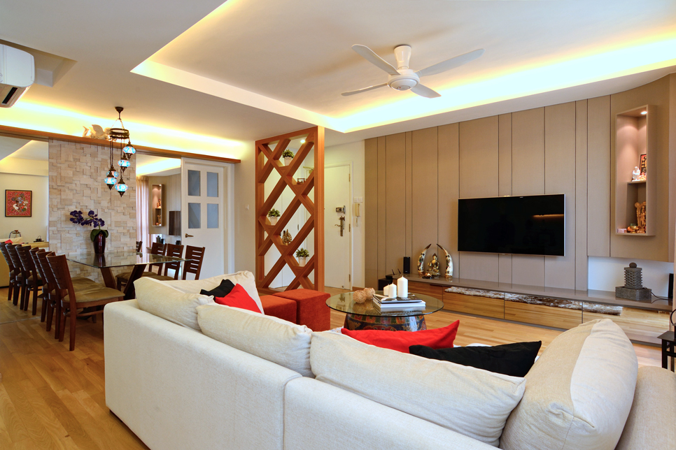 Cozy Modern Home in Singapore Developed for an Indian Couple ... on home renovation, home false ceiling, home art, home architecture, home contractors, living room designing, home planning, home wall designing, home design, home dance, home animation,