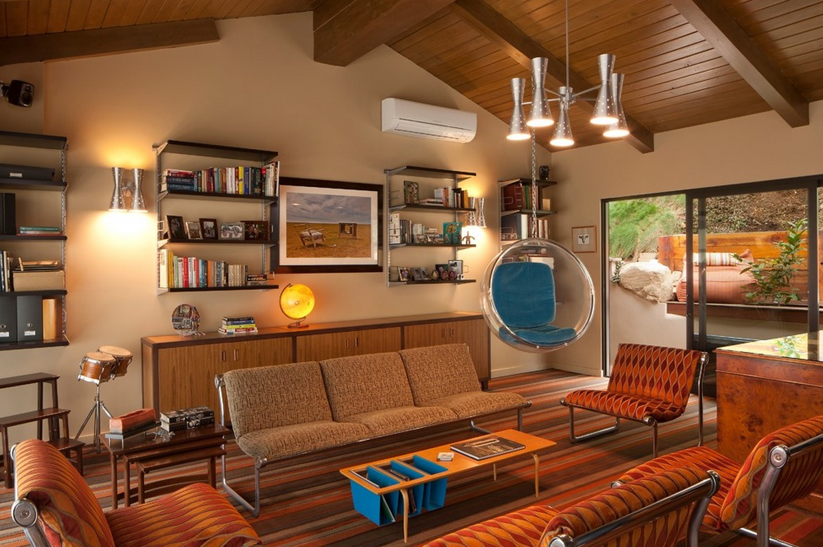 Retro furniture living room ideas