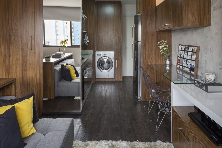 Clever Multi-Use 30 Sqm Apartment in Brazil by BEP Architects [Video]
