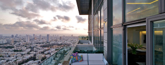 Outrageously Luxurious Penthouse Offering Views of Tel Aviv and the Mediterranean