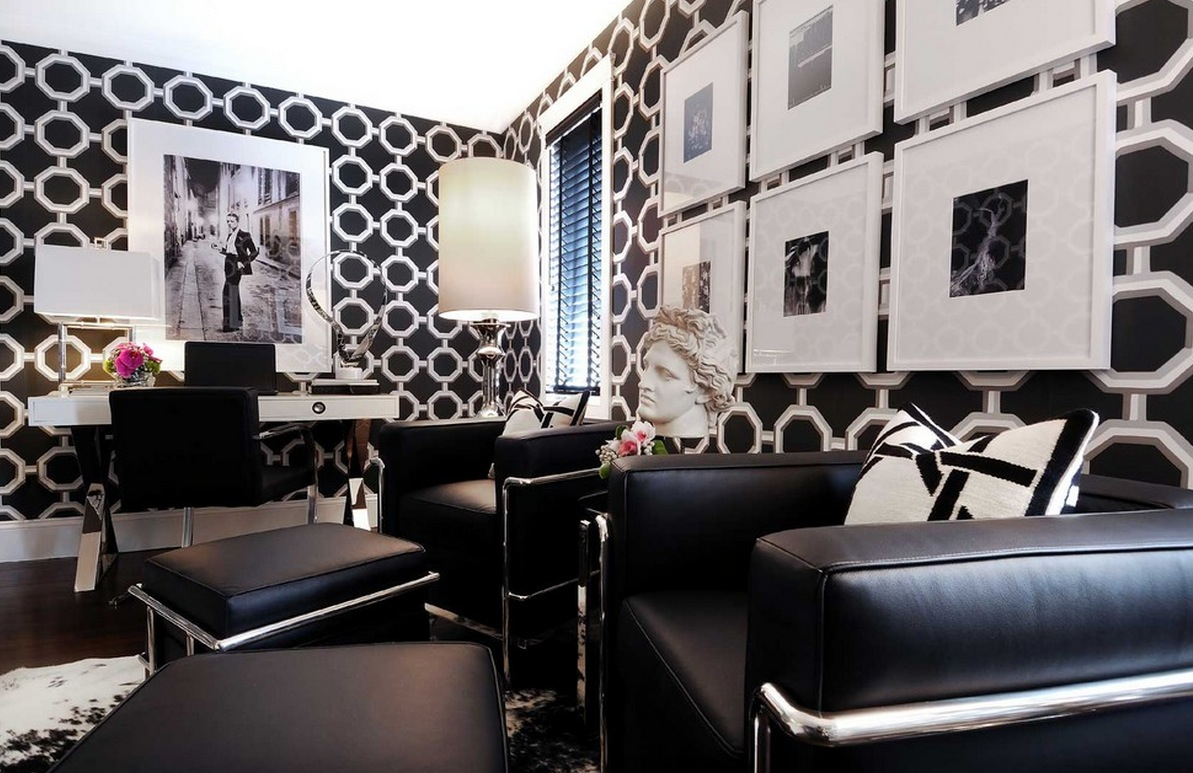 exceptional Art Deco Living Room Ideas Part - 9: art deco bold wall decor