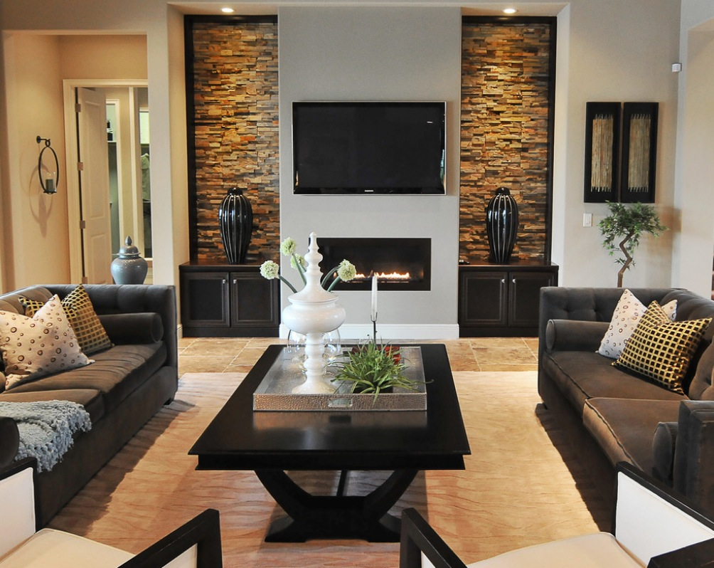 Contemporary Home Tv Wall