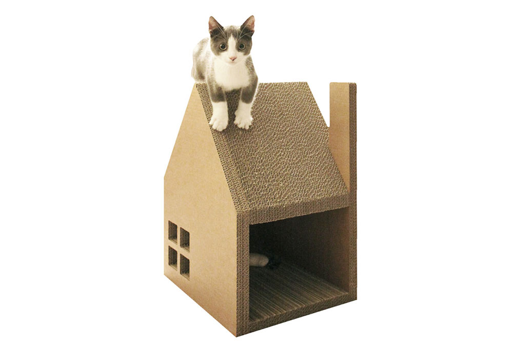 Keeping Your Feline Happy: Krabhuis : A House for Cats to Scratch