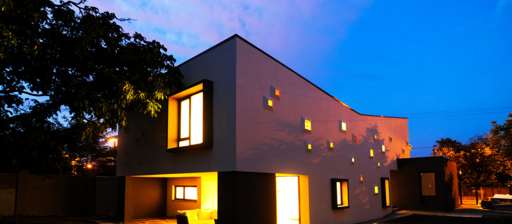 Modern Inspiring House Integrating Colourful Lights in Timisoara, Romania