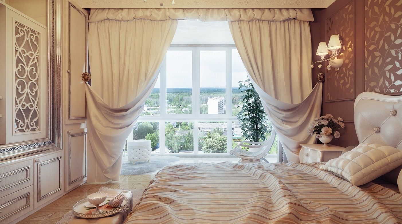 Traditional Nneutral Curtain Swags