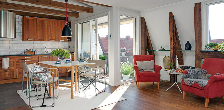 Swedish Apartment With a Charming Rustic Appeal in Gothenburg