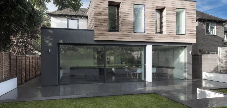 Glass and Timber Addition to a 1950?s Hampshire House by AR Design Studio