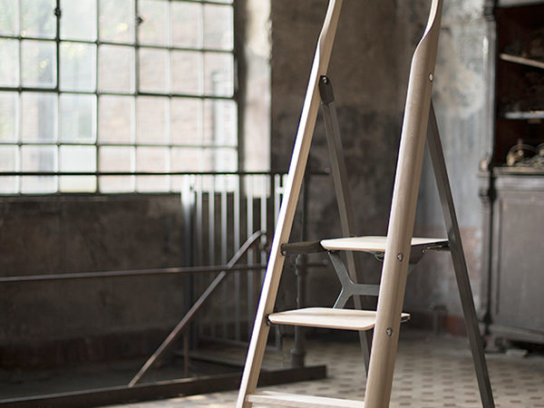 An Elegant Ladder as Part of the Living Space by Fritz Specht
