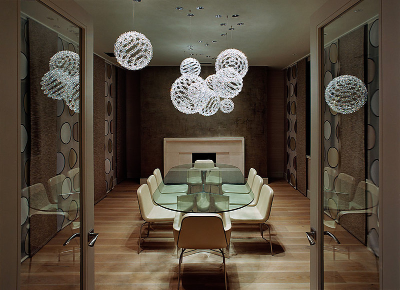 Clic Lighting With A Unique Modern Spin Windfall Crystal